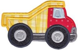 Lets Go Dump Truck Applique embroidery design