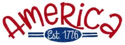 America Est. 1776 embroidery design