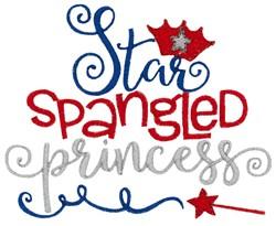 Star Spangled Princess embroidery design