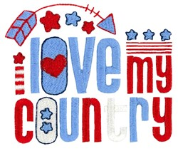 Love My Country embroidery design