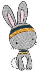 Tribal Animal Rabbit embroidery design