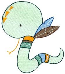 Tribal Animal Snake embroidery design