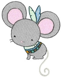 Tribal Animal Mouse embroidery design
