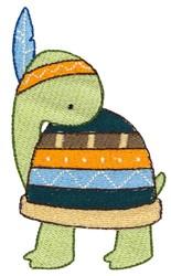 Tribal Animal Turtle embroidery design