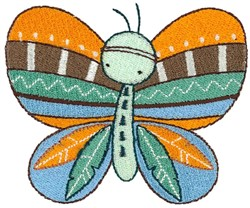 Tribal Animals Butterfly embroidery design