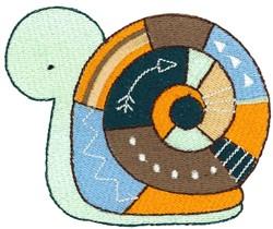 Tribal Animal Snail embroidery design