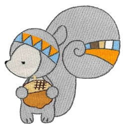 Tribal Animal Squirrel embroidery design