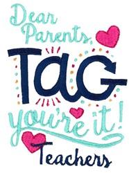 Dear Parents embroidery design