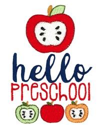 Hello Preschool embroidery design