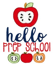 Hello Prep School embroidery design