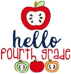 Hello Fourth Grade embroidery design