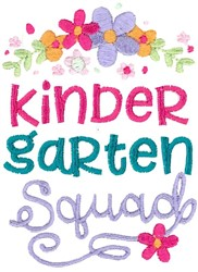 Kindergarten Squad embroidery design