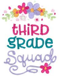 Third Grade Squad embroidery design
