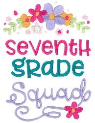 Seventh Grade Squad embroidery design