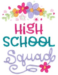 High School Squad embroidery design