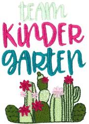 Team Kindergarten embroidery design