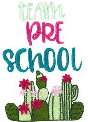Team Pre School embroidery design