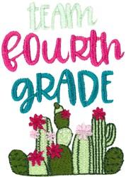 Team Fourth Grade embroidery design