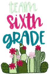 Team Sixth Grade embroidery design