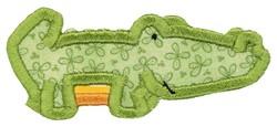 Boxy Alligator Applique embroidery design