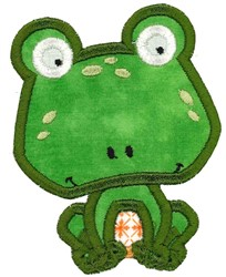Boxy Frog Applique embroidery design