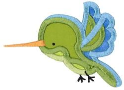 Boxy Hummingbird Applique embroidery design