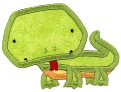 Boxy Lizard Applique embroidery design
