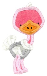 Boxy Ostrich Applique embroidery design