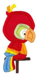 Boxy Parrot Applique embroidery design