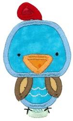 Boxy Quail Applique embroidery design