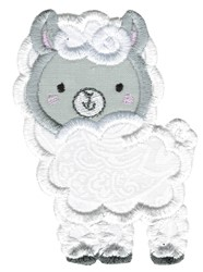 Applique Llama embroidery design