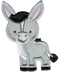 Applique Donkey embroidery design