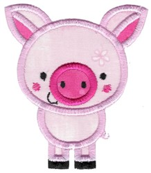 Applique Pig embroidery design