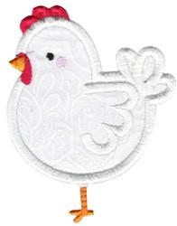 Applique Hen embroidery design