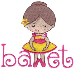 Ballet Word Art embroidery design