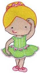 Ballerina in Fourth Position embroidery design