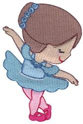 Ballerina in Aqua Tutu embroidery design