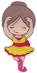 Ballerina in Fifth Position embroidery design