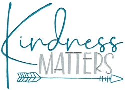Kindness Matters embroidery design