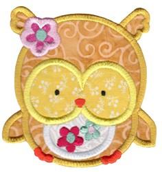 Adorable Owls Applique 1 embroidery design