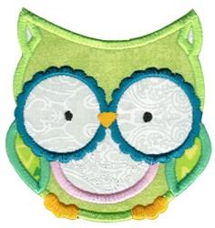 Adorable Owls Applique 2 embroidery design