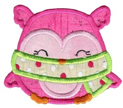 Adorable Owls Applique 5 embroidery design