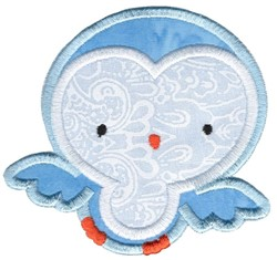Adorable Owls Applique 6 embroidery design