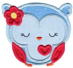 Adorable Owls Applique 7 embroidery design
