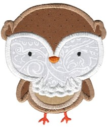 Adorable Owls Applique 8 embroidery design
