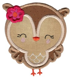 Adorable Owls Applique 9 embroidery design