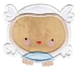 Adorable Owls Applique 11 embroidery design