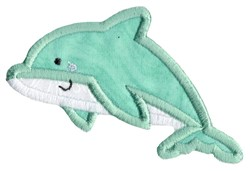 Boxy Dolphin Applique embroidery design