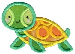Boxy Turtle Applique embroidery design