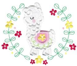 Applique Llama & Laurel embroidery design